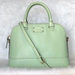 ⭐️Kate Spade Mint Green Leather Satchel